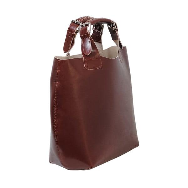 Hnědá kožená kabelka Andrea Cardone 2004
