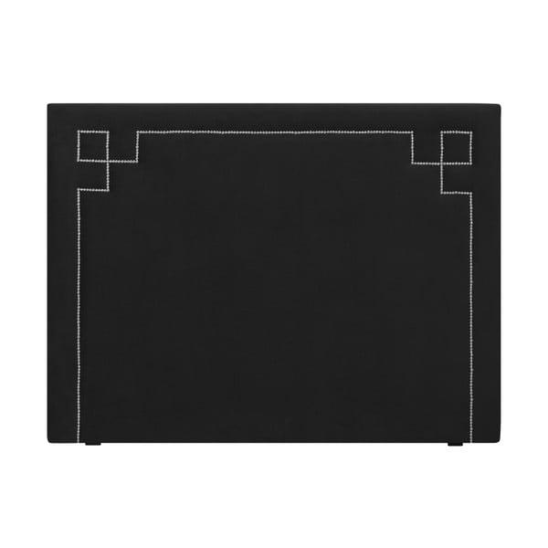 Černé čelo postele THE CLASSIC LIVING Nicolas, 140 x 120 cm
