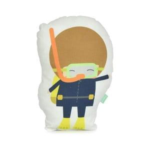 Polštářek z čisté bavlny Happynois Diver Boy, 40x30 cm