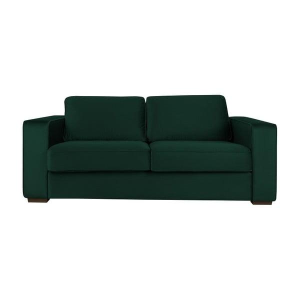 Lahvově zelená trojmístná pohovka Cosmopolitan Design Denver