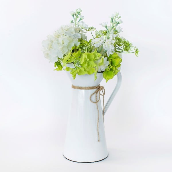 Kovový džbánek s umělou květinou Queen Anne, 50 cm