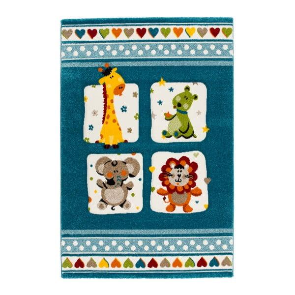 Modrý koberec Universal Toys, 120 x 170 cm