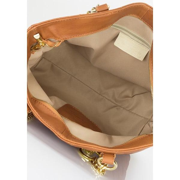 Kožená kabelka Lisa Minardi 6938 Cognac