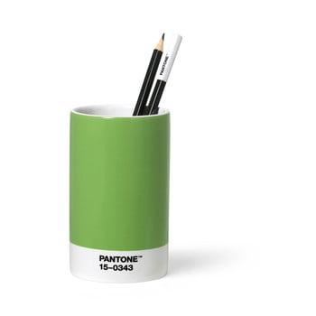 Suport din ceramică pentru pixuri și creioane Pantone, verde
