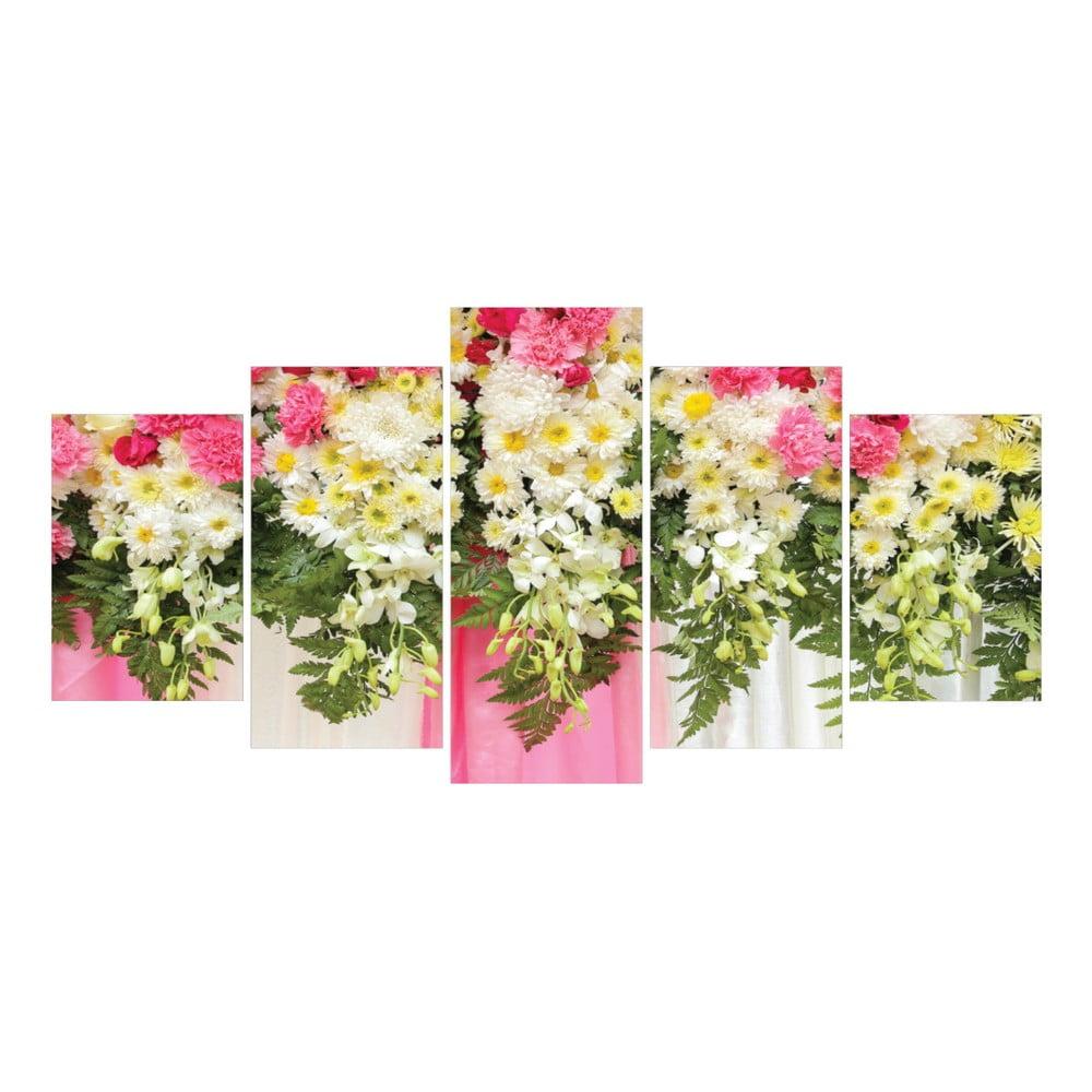 Tablou din 5 piese la maison des couleurs spring flowers bonami - La maison des couleurs ...