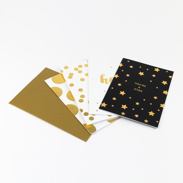 Sada 16 papierov s obálkami v darčekovej škatuľke GO Stationery Shimmer