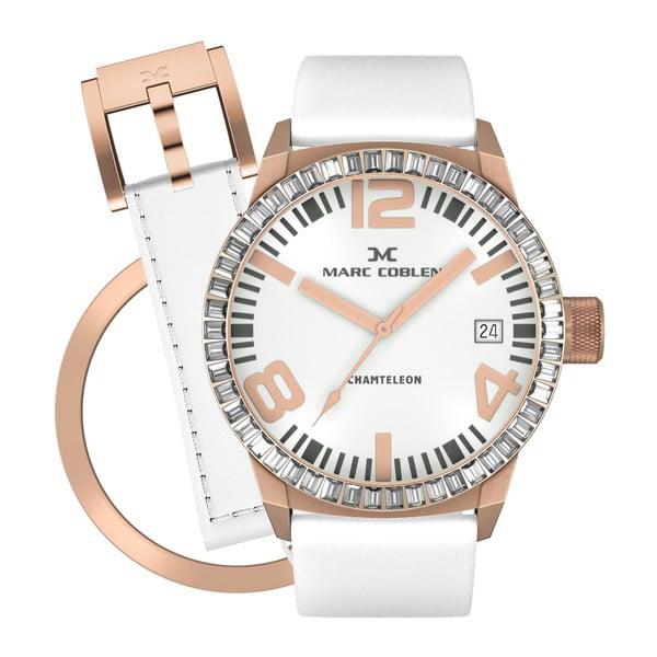 Dámské hodinky Marc Coblen s páskem a kroužkem navíc P59