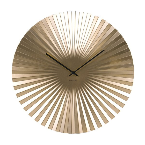 Zegar w kolorze złota Karlsson Sensu, ⌀ 50 cm
