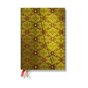 Diář na rok 2014 - French Ornate Vert 13x18 cm, horizontální výpis dnů
