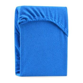 Cearșaf elastic pentru pat dublu AmeliaHome Ruby Blue, 220-240 x 220 cm, albastru