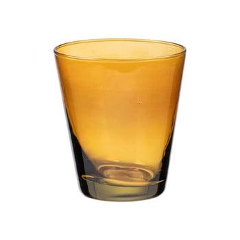 Pahar pentru apă Bitz Basics Amber, 300 ml, galben imagine