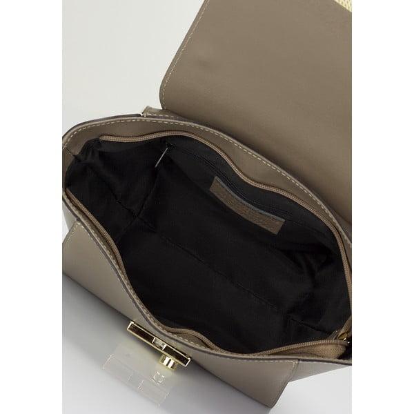 Béžová kožená kabelka Lisa Minardi Alice