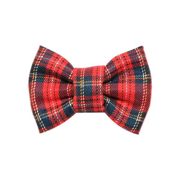 Červeno-zelený károvaný charitativní psí motýlek Funky Dog Bow Ties, vel. M