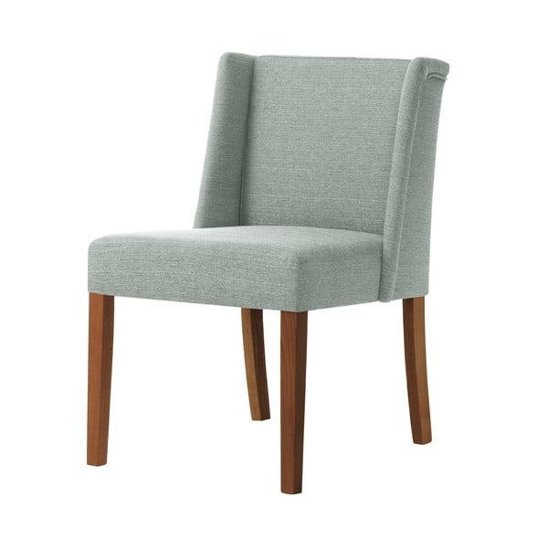 Světle zelená židle s tmavě hnědými nohami z bukového dřeva Ted Lapidus Maison Zeste