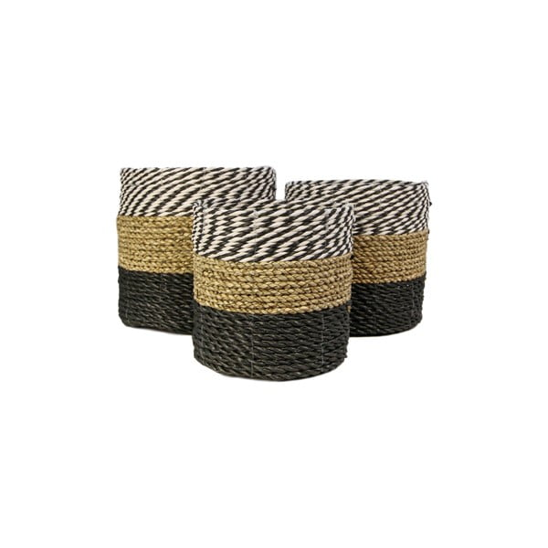 Sada 3 úložných košíků HSM collection Raffia Duro