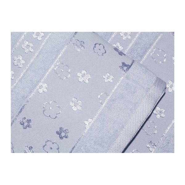 Sada 2 modrých ručníků z bavlny Blossom, 50x90cm