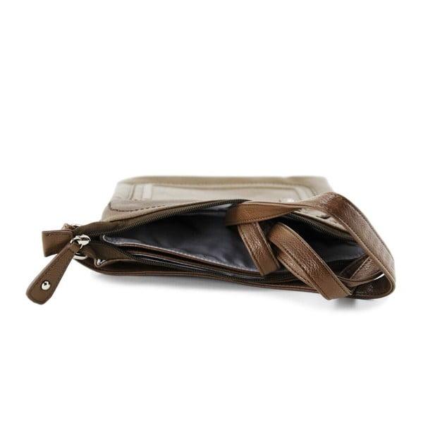 Kožená kabelka Cassandra Taupe