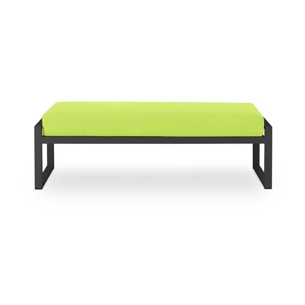 Nicea lime zöld kétszemélyes kültéri pad fekete kerettel - Calme Jardin