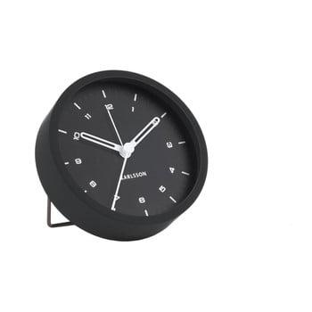 Ceas cu alarmă Karlsson Tinge, ø 9cm, negru poza