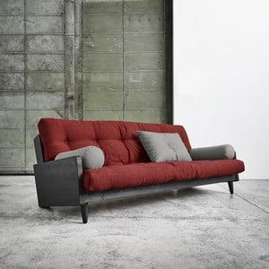 Canapea extensibilă Karup Indie Black/Passion Red/Granite Grey