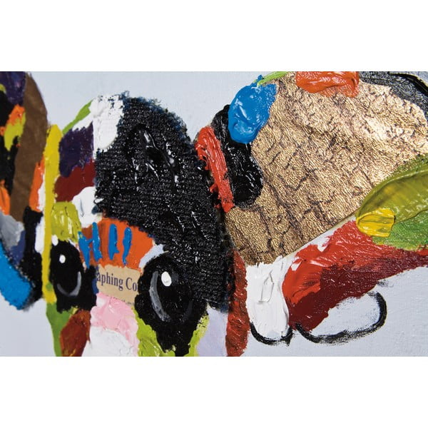 Tablou ulei Kare Design Chihuahua, 100 x 100 cm