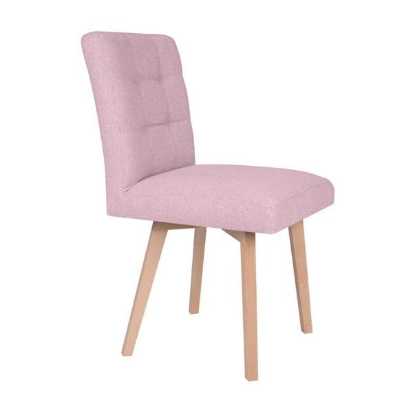 Růžová židle Micadoni Home Lucio
