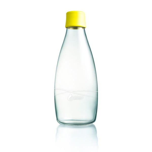 Sárga üvegpalack élettartam garanciával, 800ml - ReTap