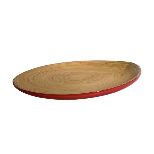 Bambusový podnos Tempo, červený