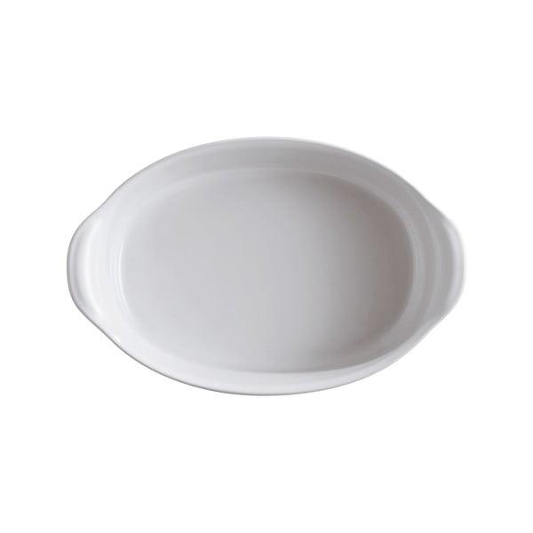 Vas oval de copt Emile Henry, 1,3 l, alb