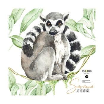 Autocolant de perete Dekornik, 34 x 40 cm, lemur imagine