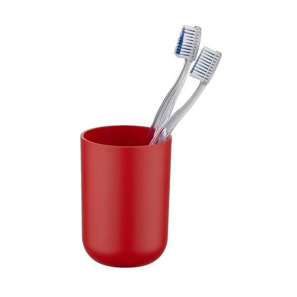 Červený kelímek na zubní kartáčky Wenko Brasil Red