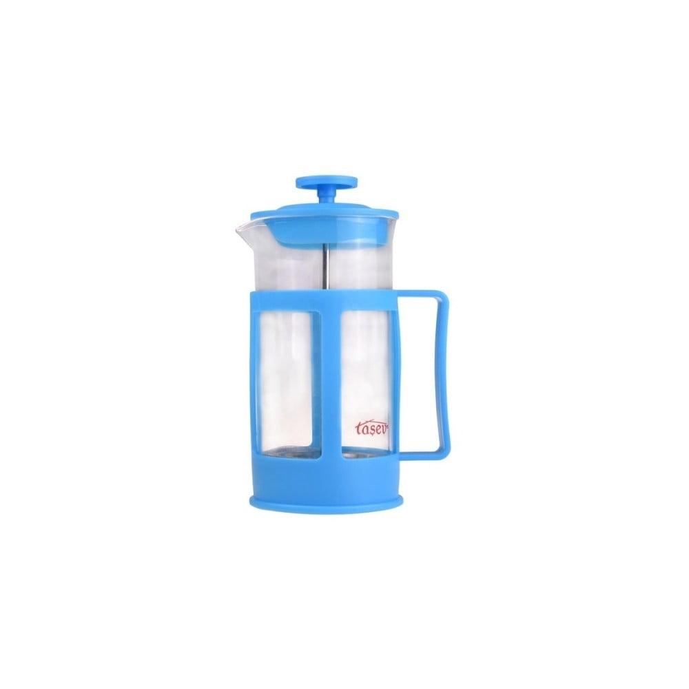 Modrý french press na kávu a čaj Bambum Magic, 350 ml