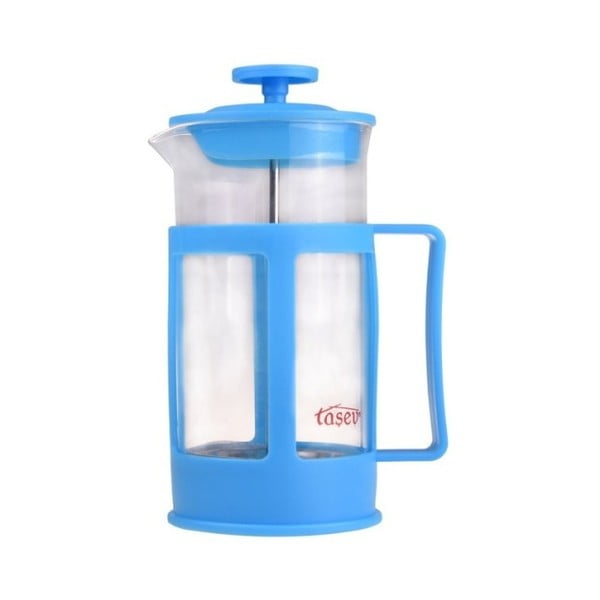 Niebieski french press na kawę/herbatę Bambum Magic, 350 ml