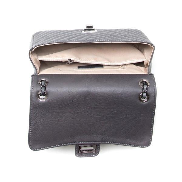 Kožená kabelka Anna Luchini 2118 Grigio