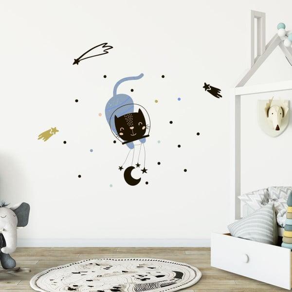 Sada nástěnných dětských samolepek Ambiance Scandinavian Animals In The Stars