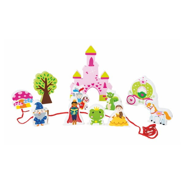 Dřevěný hrací set s provázkem Legler Fairytale