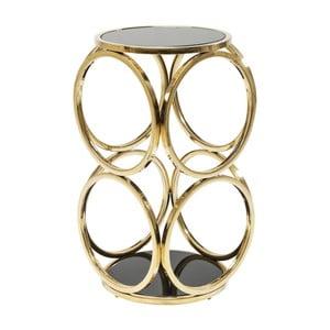 Odkládací stolek ve zlaté barvě Kare Design Circuit, ⌀ 32 cm