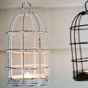 Lucerna Bird Cage Light 26 cm, bílá