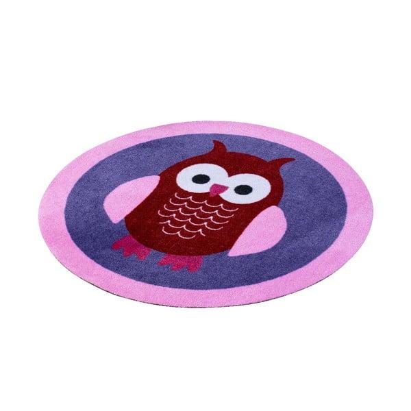 Dětský fialový koberec Zala Living Owl, ⌀100cm