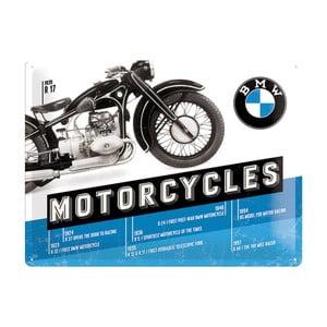 Plechová cedule Motorcycles BMW, 30x40 cm