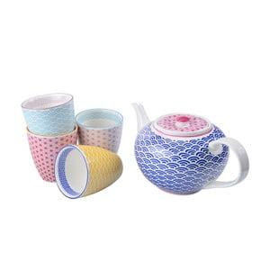 Porcelánová čajová sada Star
