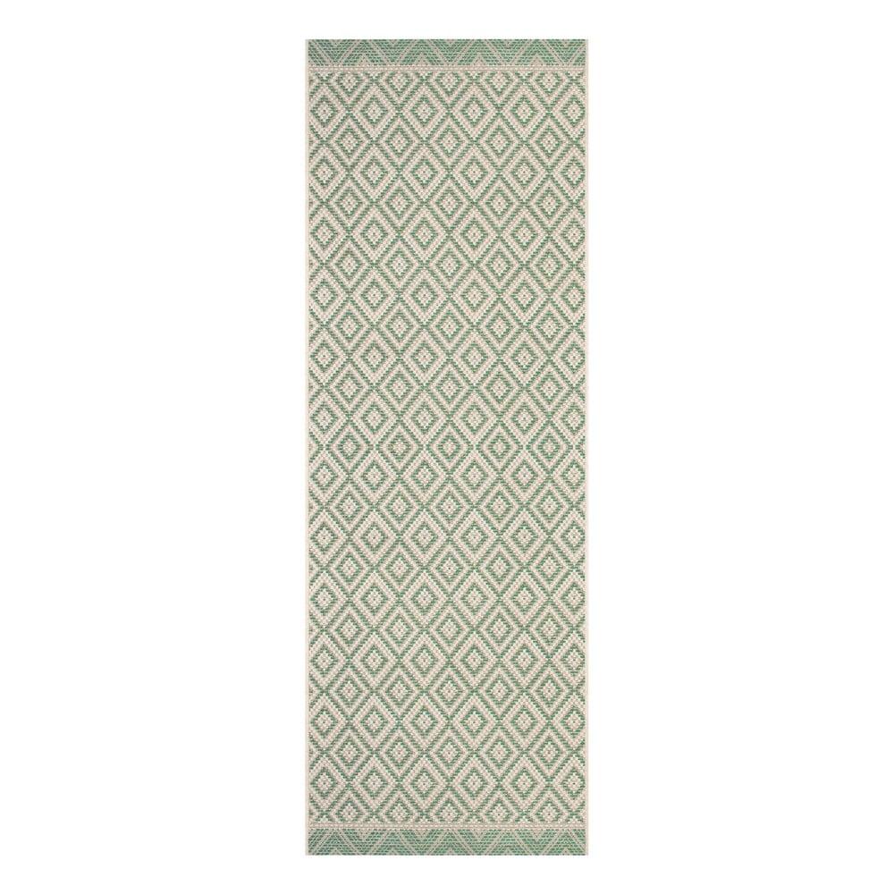 Zeleno-béžový venkovní běhoun Ragami Porto, 70 x 200 cm