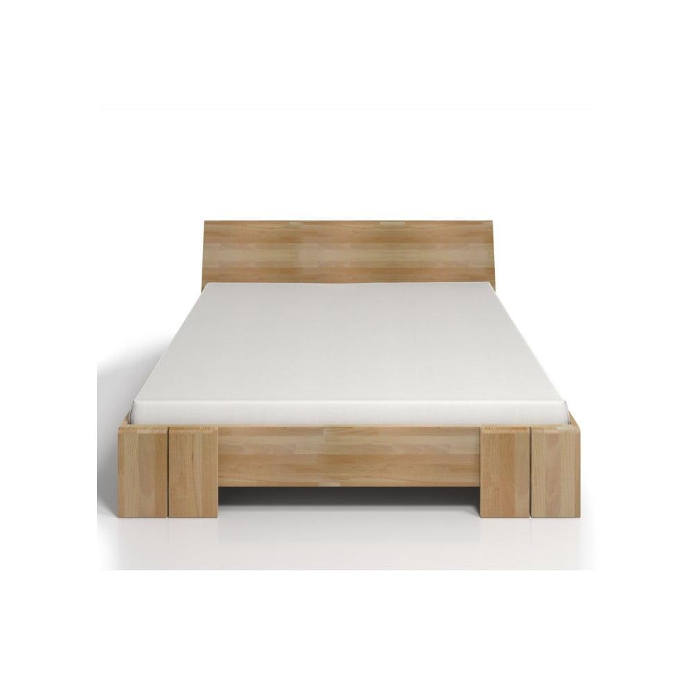 Dvoulůžková postel z bukového dřeva s úložným prostorem SKANDICA Vestre Maxi, 140 x 200 cm