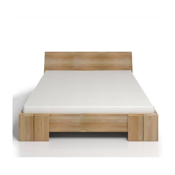 Pat dublu din lemn de fag SKANDICA Vestre Maxi, 180 x 200 cm