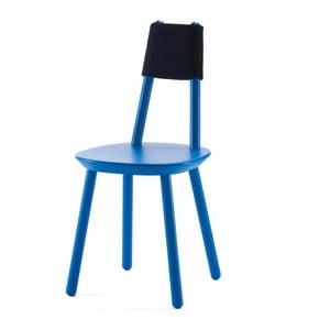 Scaun din lemn masiv EMKO Naïve, albastru