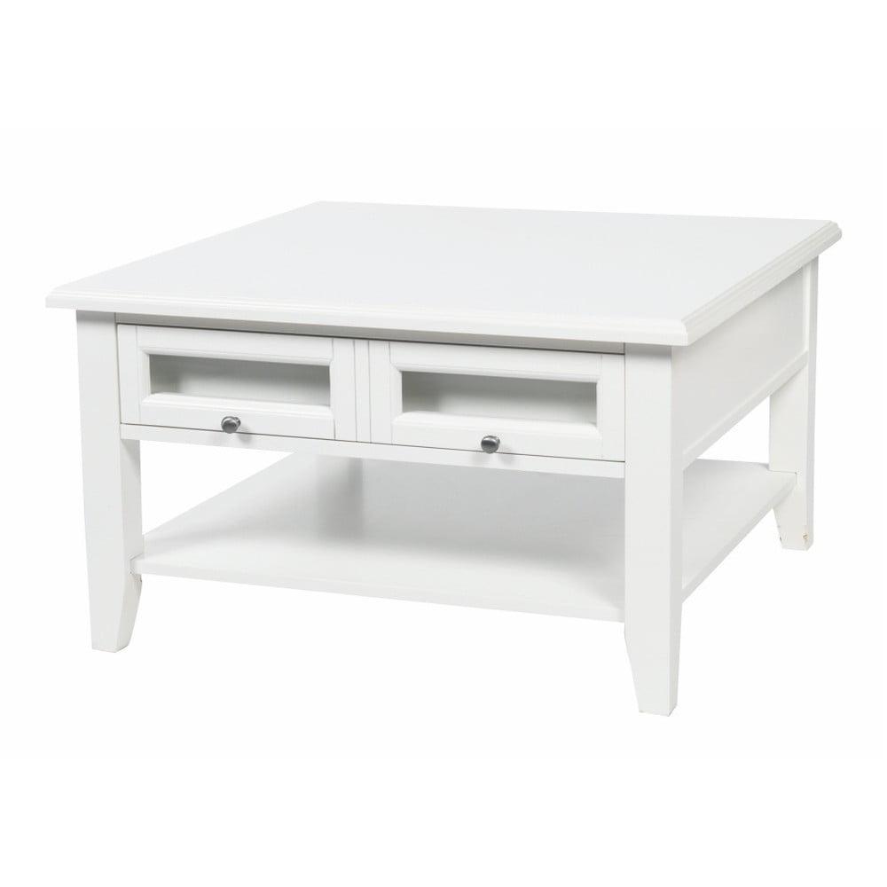 Bílý konferenční stolek Folke Kosse, 80 x 80 cm
