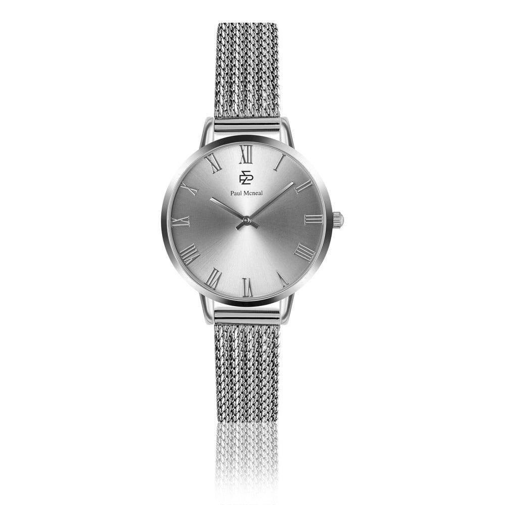 Dámské hodinky s páskem z nerezové oceli ve stříbrné barvě Paul McNeal Curioso