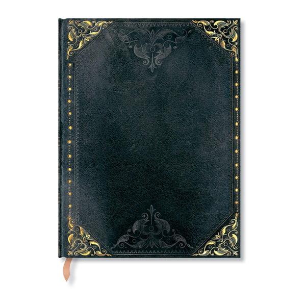 Czarny notes w linie z twardą oprawą Paperblanks Midnight Rebel, 144 str.