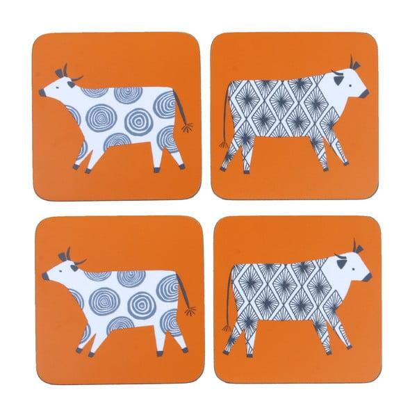 Sada 4 podtácků Curious Cows