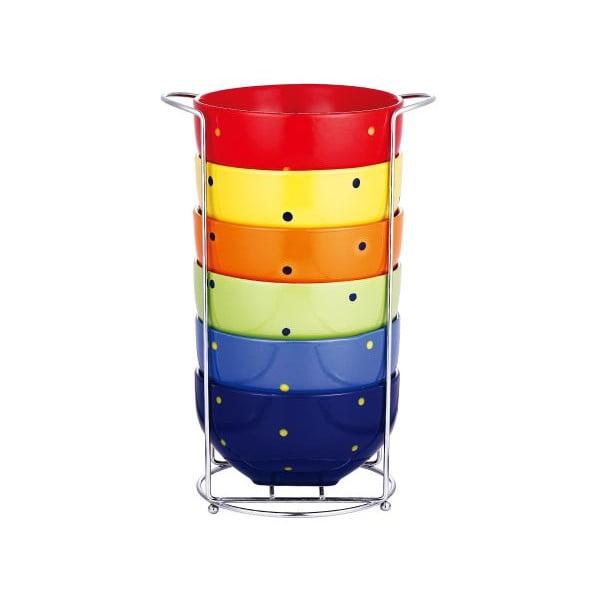 Set misek Rainbow se stojanem, 7 ks